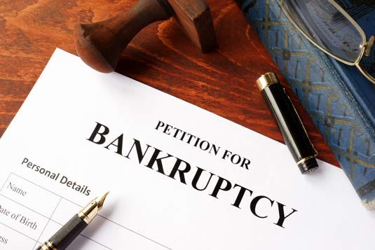 Bankruptcy paperwork in Milwaukee